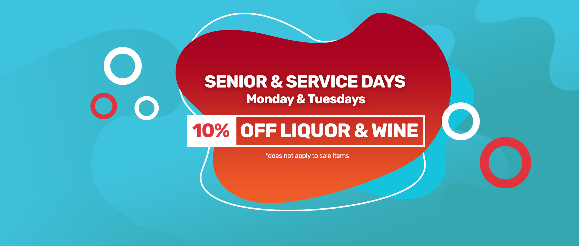 Senior & Service Days on Mondays and Tuesdays at Lundeen Discount Liquors - 10% off liquor and wine